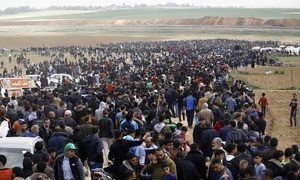 Israeli military drops leaflets warning Gaza residents of taking part in 4th border protest