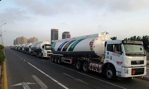 FAW hands over 10 new FAW J5P-360 oil tankers to Pakistan State Oil contractors