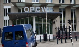 OPCW takes samples from Syria 'gas attack' site