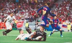 Barca hammer Sevilla to win fourth straight Copa del Rey