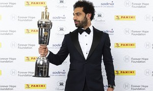 Egypt's Mohamed Salah voted best footballer in England by his peers