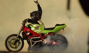 Mountain Dew brings extreme biking stunts to a show in Karachi