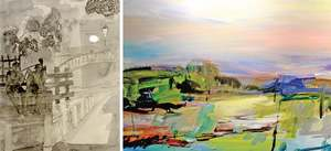 Joint exhibition depicts landscape, household objects and life