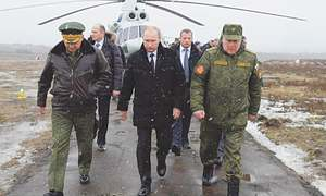 Even as fear of Russia is rising, its military spending is actually decreasing
