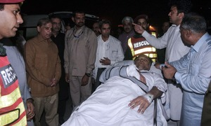 Interior Minister Ahsan Iqbal injured in assassination attempt during Narowal corner meeting