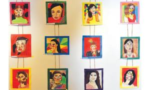 Children from govt schools display their art skills