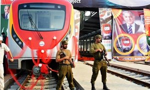 Lahore's Orange Line Metro Train conducts trial run