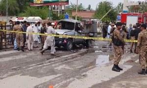 نوشہرہ: خودکش دھماکے میں 6 سیکیورٹی اہلکاروں سمیت 12 زخمی