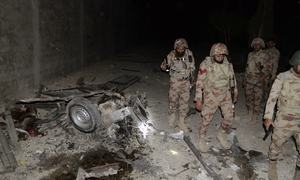 Five suicide bombers killed as attack on FC centre foiled
