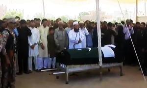 Sabika Sheikh's funeral prayers offered at Karachi's Hakeem Saeed ground