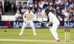Pakistan 227-5 at tea after England 184 all out in 1st test