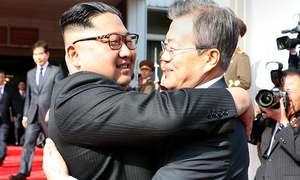 Korean leaders meet inside DMZ after Trump threatens to quit Kim summit