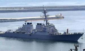 US warships sail near South China Sea islands