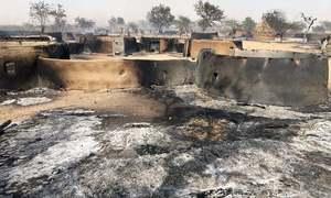 تھر:آتشزدگی کے باعث 60 جھونپڑیاں خاکستر