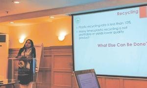 Public urged to reduce plastic use
