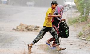 Unexpected rainfall brings reprieve from capital's heatwave