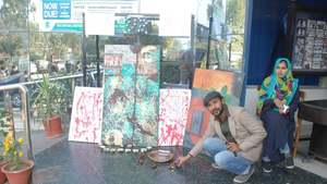 This painter in Lahore prefers road shows over art galleries