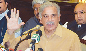 Shahbaz for resumption of peace talks with India