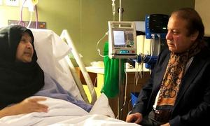 Nawaz, Maryam postpone return due to Kulsoom's health condition, sources say