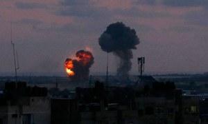 اسرائیلی فورسز کا غزہ میں 25 مقامات پر فضائی حملہ