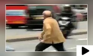 شہباز شریف کی لندن میں سڑک پار کرنے کی ویڈیو وائرل