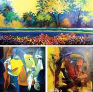 Two abstract expressionist artists put on 'rioting, vibrant' exhibition