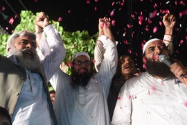 Well, look who's busy campaigning — Hafiz Saeed