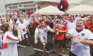 England's first semi-final since 1990 attracts few fans