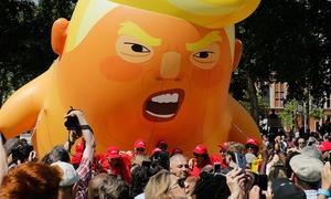 ٹرمپ کو برطانیہ کے دورے میں شدید احتجاج کا سامنا