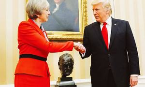 May says Trump told her to 'sue the EU'