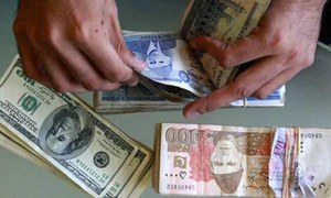 Rupee falls 5.7pc against dollar in inter bank trade