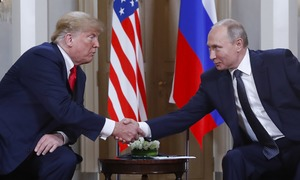 At historic summit, Trump refuses to confront Putin on vote row
