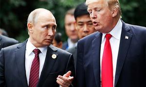 Trump eyes new Putin meeting, slams media as 'enemy'