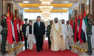 Xi arrives in Abu Dhabi after China signs deals with UAE