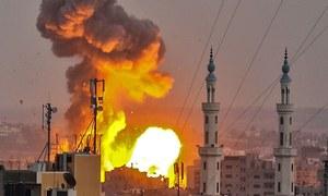 غزہ: اسرائیل کی فضائی کارروائی سے 4 افراد جاں بحق
