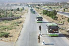Rebels reach north Syria after south evacuations