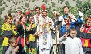 Kalash celebrate PTI's poll victory