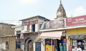 Pre-partition temple losing original architecture due to encroachments