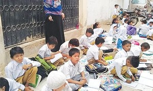 'Land grabber' held over ejecting pupils, teachers from govt school in Gulshan