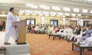 PTI names Imran as PM, dismisses opposition threat