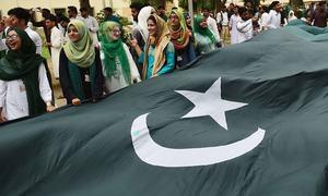 کراچی میں جشن آزادی کے رنگ