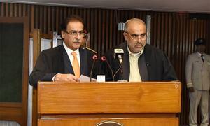 PTI's Asad Qaiser, Qasim Suri elected NA speaker and deputy speaker amid opposition ruckus