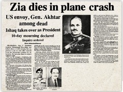 Mystery still surrounds Gen Zia's death, 30 years on