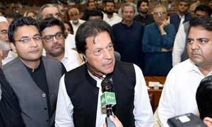 Imran clean bowls Shahbaz to become PM