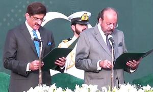 Murad Ali Shah takes oath as 33rd chief minister of Sindh