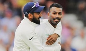 Pandya takes five as England lose 10 wickets in session