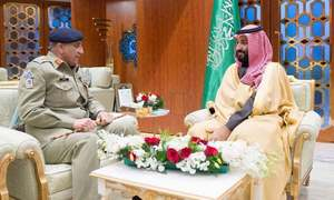 Saudi crown prince expresses support for new govt in meeting with Gen Bajwa