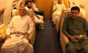 Tareen reaches Pakistan to 'support' Dr Alvi in presidential election