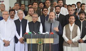Three Balochistan parties back Alvi's presidential candidature