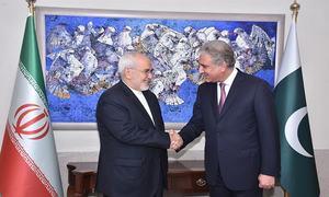 ایرانی وزیر خارجہ کی پاکستان کے آرمی چیف اور ہم منصب سے ملاقاتیں